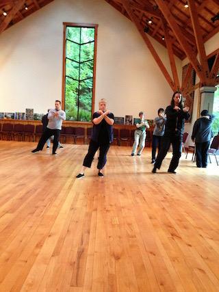 Tai chi class with Judith Sullivan.